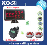 Desktop Cafe House Guest Pager Bell System in 433.92MHz