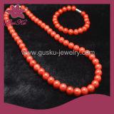 Fashion Jewelry Health Care Handmade Tourmaline Bead Necklace (2015 Tmns-089)