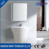 Simple Design PVC Floor White Bathroom Vanity with Mirror
