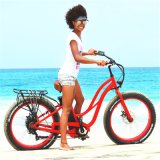 Women Beach Fat Tire Bicycle Electric with 8fun Motor
