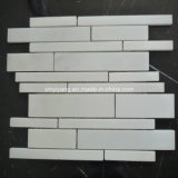 Honed White Marble Stone Mosaic Tile for Outdoor Landscape Wall