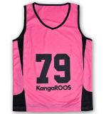 Hot Fashion Girls Pink Mesh Bodybuilding Mesh Tank Top