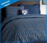 Dorm-Essentials College Navy Plaid Cotton Duvet Cover Set