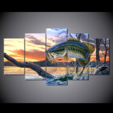 HD Printed Jumping Fish Landscape Art Painting Canvas Print Room Decor Print Poster Picture Canvas Mc-015