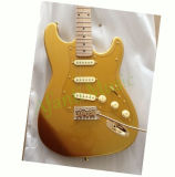 Gold Color Whole Body St Electric Guitar (ASTG003G)