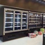 2017 Refrigerated Upright Glass Door Display Cabinet with 110V