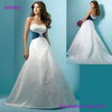 Graceful Heart Line Ruffle Org Lace Wedding Dress
