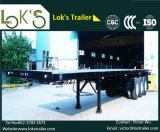40FT Flatbed Semi- Trailer 3axles (Black) for Long Vehicles