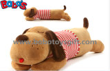 Soft Big Plush Stuffed Dog Toy Animals with Red T-Shirt Long Body Can Be Pillow