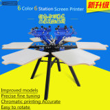 6 Color Manual Carousel T-Shirt Textile Screen Printing Machine (TM-R6a)