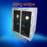 Grey Tinted Glass PVC Double Pane Sliding Window