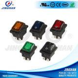 Jinghan Kcd4-130fs/4pn Illuminated Waterproof Rocker Switch Square Colors