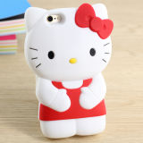 Lovely 3D Hello-Kitty Cell Phone Case Silicon Cover
