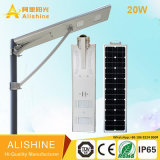 Outdoor Project Lamp All-in-One LED Solar Street Light Integrated with 160 Lumen/W 3030 LED Chip