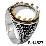 Factory Hotsale 925 Silver Prongs Men Ring Without Center Stone.
