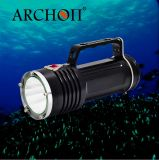 2200 Lumens Caving/Technical/Professional Goodman Handle LED Dive Flashlight with CE&RoHS