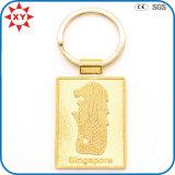Zinc Alloy Gold Plated 3D Logo Creative Keychain Gift
