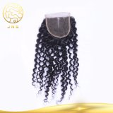 Unprocessed 100% Brazilian Virgin Curly Wave Hair Lace Closure