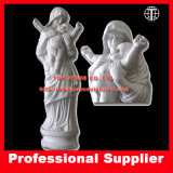Virgin Mary with Baby Marble Sculpture Mother Maria