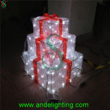 Outdoor Decoration LED christmas Decoration 3D Gift Box Lights