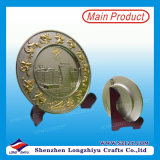 Challenge Antique Gold Metal Plate From China Supplier