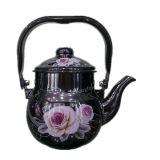 Kitchen Utensils, Enamel Teapot, Enamel Cookware Kettle, Steel Enamel Kettle