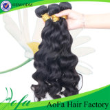 7A Tangle Free Elegant Style Virgin Black Wavy Remy Hair