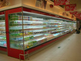 Supermarket Refrigerated Refrigerator with Air Curtain for Display of Fruits and Vegetables