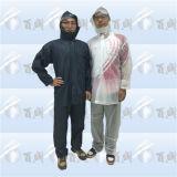 Unisex Plastic PVC Transparent Men′s Rainsuit