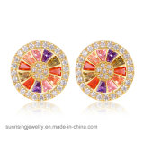 Fashion Imitation Jewelry Earrings with Different Colors Crystal