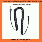 Quick Release Coiled Cords for Kenwood Radio