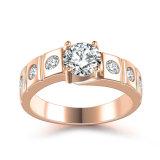 Bridal Jewelry Women Gold Crystal Engagement Wedding Ring