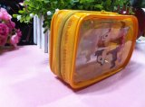 Eco- Fridenly Custom Printing Cute Yellow PVC Bag with Piping