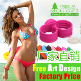 Stainless Steel Clasp Custom Silicone Bracelet for Girls