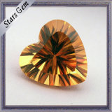 Competitive Price Golden Yellow Heart Shape Stone