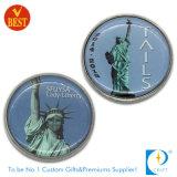 OEM Custom Police/Challange/Souvenir/Memorial Printed Liberty Coin