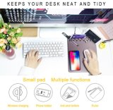 Storage Mouse Pad/Mat with Qi Wireless Charger for iPhone X / iPhone 8 Plus