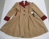Beige and Red Women Overcoat (OEM)