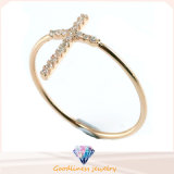 Wholesale Fashion Jewelry Simple Cross Design Women Forever Special Silver Ring (R10289)