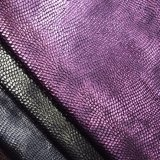 Foiled Embossed Faux PU Leather Polyester Fabric for Shoe Bag