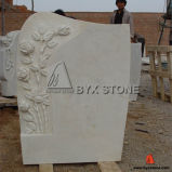 Europe Style Monuments China White Marble Tombstone