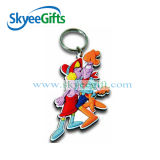 Custom Made Colorful Soft PVC Reflective Keychain