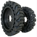 Puyi Solid Tires 12-16.5 with Rims for Skid Steer Loaders