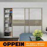 Oppein Modern Glossy Lacquer 3 Doors Sliding Wooden Wardrobe (YG16-L01)