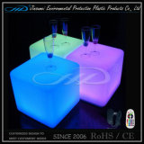 Rotational Moulding Plastic Rechargeable LED Colorful Bar Cube Furniture with BV