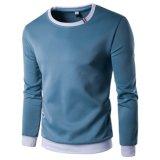 Custom Pullover Rib O Neck Men′s Top Long Sleeve Tee