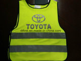 Safety Vest Flu Yellow 100%Polyester Knitting Fabric