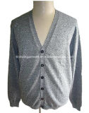 Men Knitted V Neck Long Sleeve Cardigan with Buttons (#18)