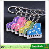 High Quality Beautiful Colorful Piano Metal Keychain