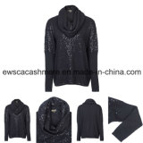 Lady Sequins Long Sleeve Top Grade Pure Cashmere Knitwear